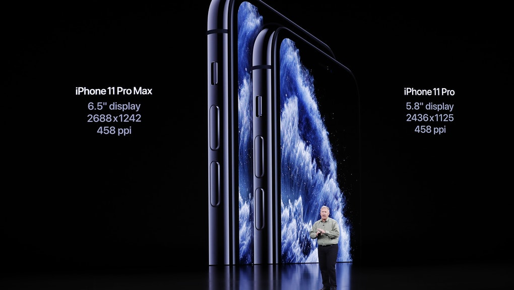 Apple Senior VP of Worldwide Marketing Phil Schiller speaks about the iPhone 11 Pro during the Apple...