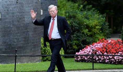 John Bolton, US National Security Advisor, arrives at No.11 Downing Street, London.