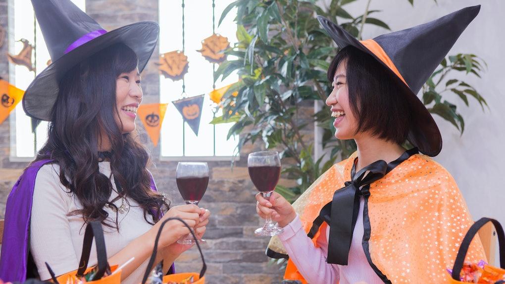 Women who play Halloween parties