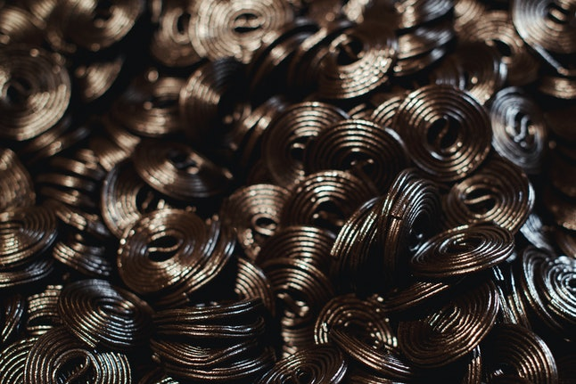 Dark jelly flavored licorice, one of the best herbs for acid reflux