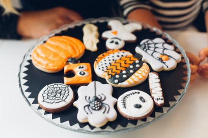 Mom and daughter made Halloween Cookies