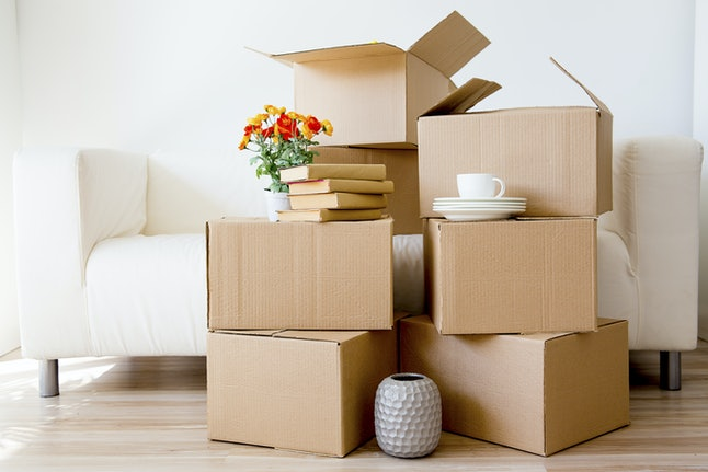 Cardboard boxes - moving to a new house