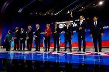 Amy Klobuchar, Cory Booker, Pete Buttigieg, Bernie Sanders, Joe Biden, Elizabeth Warren, Kamala Harr...