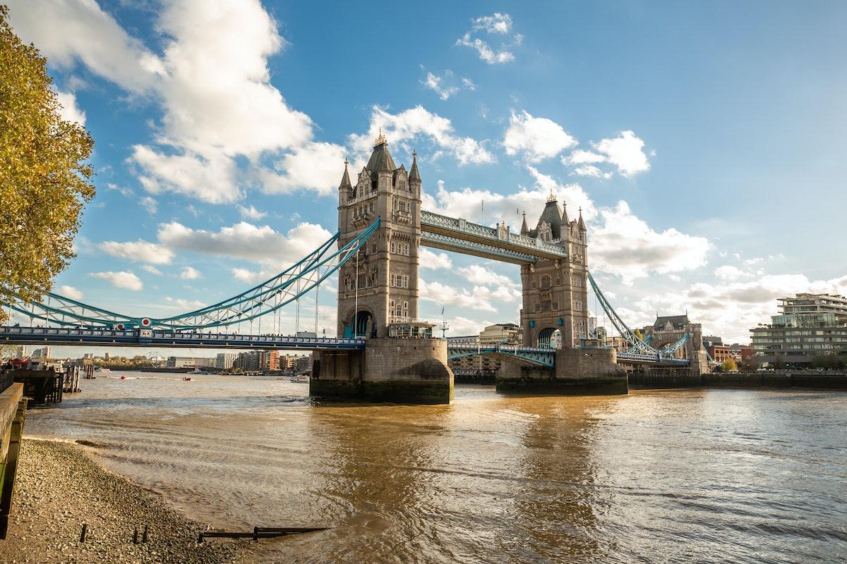 London Tower Bridge under the sun