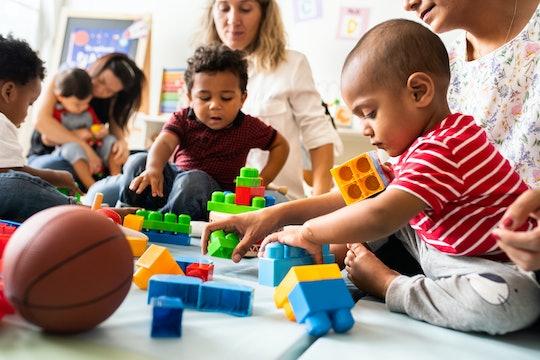 Diverse children enjoying playing with toys
