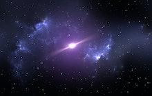Pulsar or neutron star in the nebula. 3D illustration