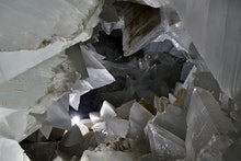 A general view of the geode found inside Mina Rica mine, in the village of Pulpi, Almeria, southern ...