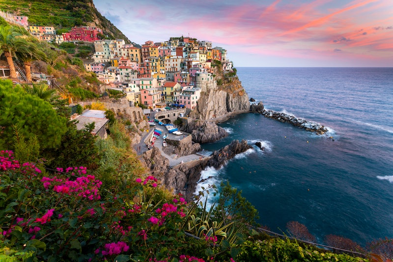 The iconic little town of Manarola, part of Cinque Terre the 5 towns in Italy.