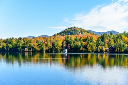 Adirondacks Peak Fall Foliage in Lake Placid, New York.