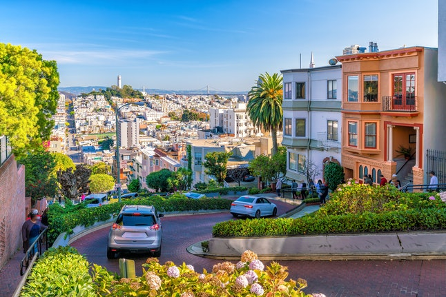 Lombard Street in San Francisco United State