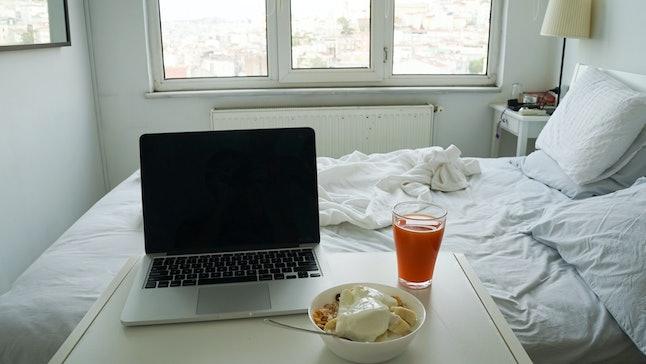 Laptop Breakfast Food