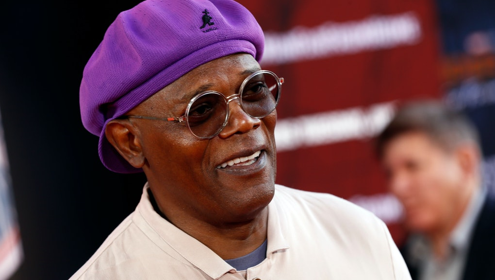 Samuel L. Jackson poses for photos on the red carpet prior to the premiere of 'Spider-Man: Far From Home' at the TLC Chinese Theater in Hollywood, California, USA, 26 June 2019. The movie will hit the theaters in the US on 02 June.