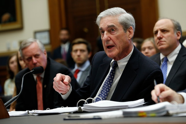 Former Trump-Russia special counsel Robert Mueller gives testimony before the United States House Ju...