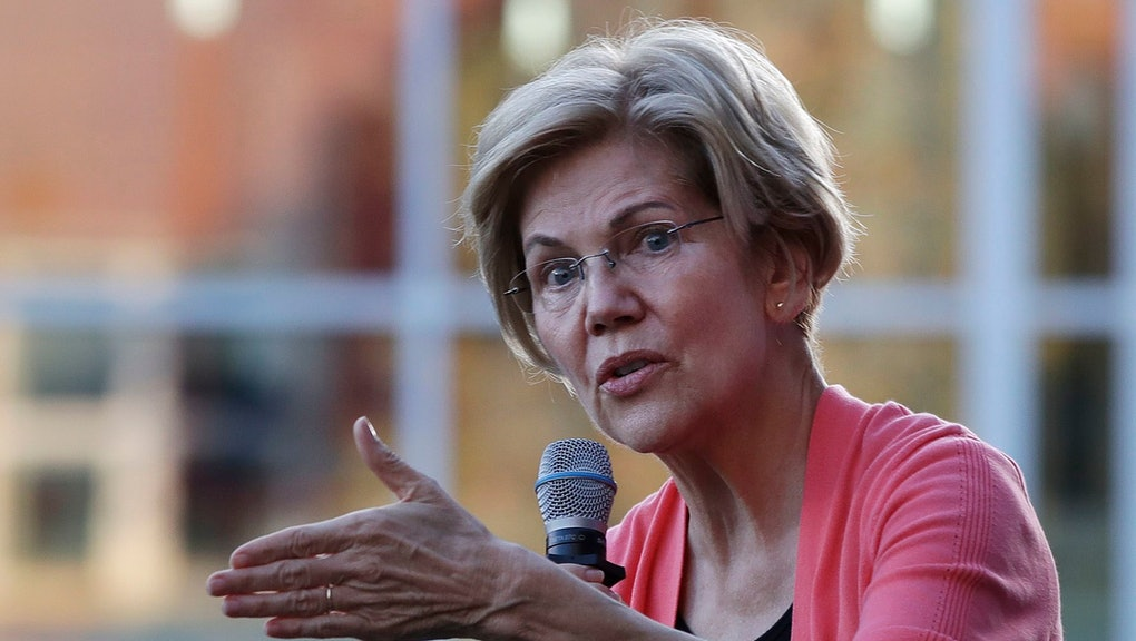 Democratic presidential candidate Sen. Elizabeth Warren, D-Mass., speaks at a campaign event, in Keene, N.H
