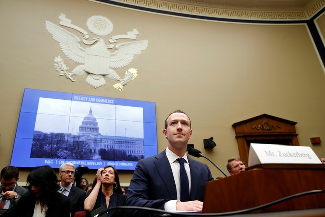 Facebook CEO Mark Zuckerberg returns after a break to continue testifying at a House Energy and Commerce hearing on Capitol Hill in Washington, about the use of Facebook data to target American voters in the 2016 election and data privacy