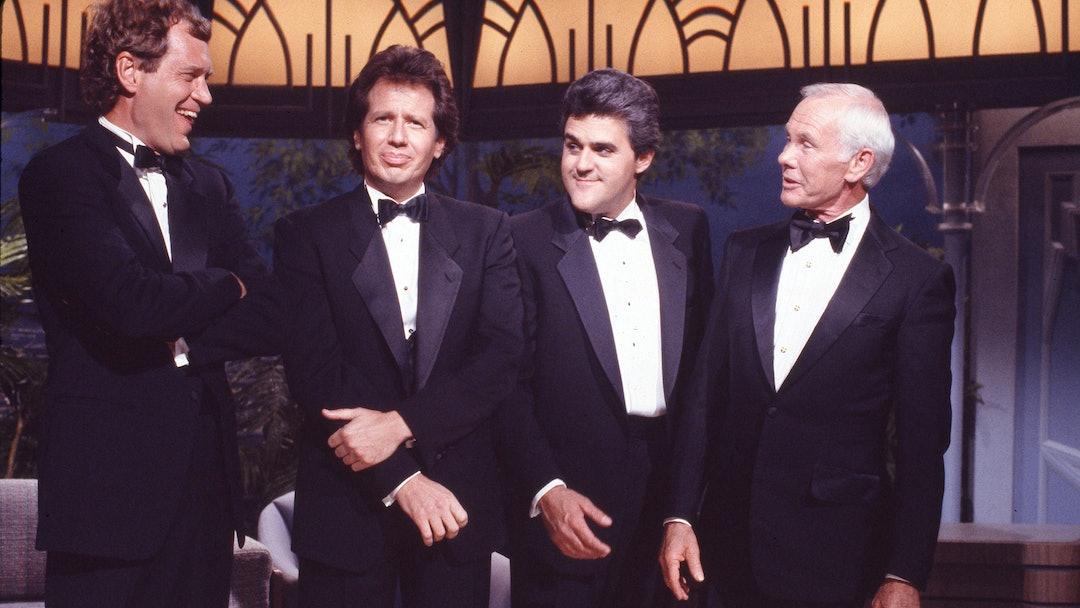 David Letterman, Garry Shandling, Jay Leno, Johnny Carson