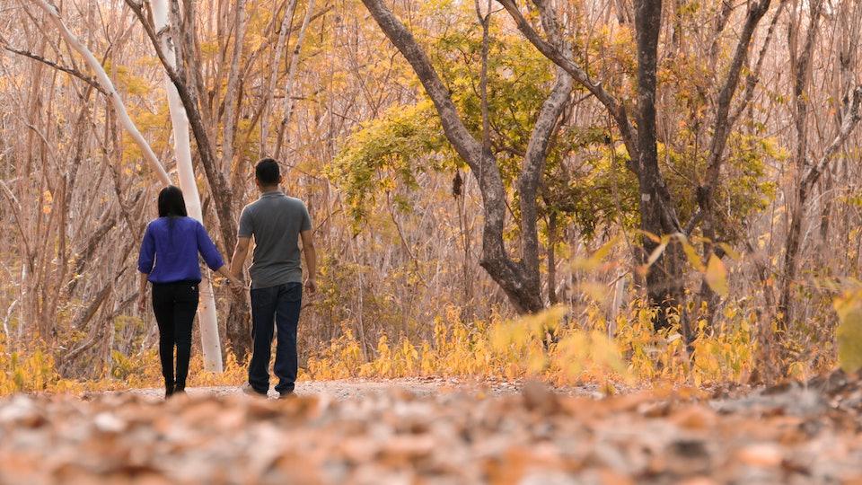 Couple Walk Away