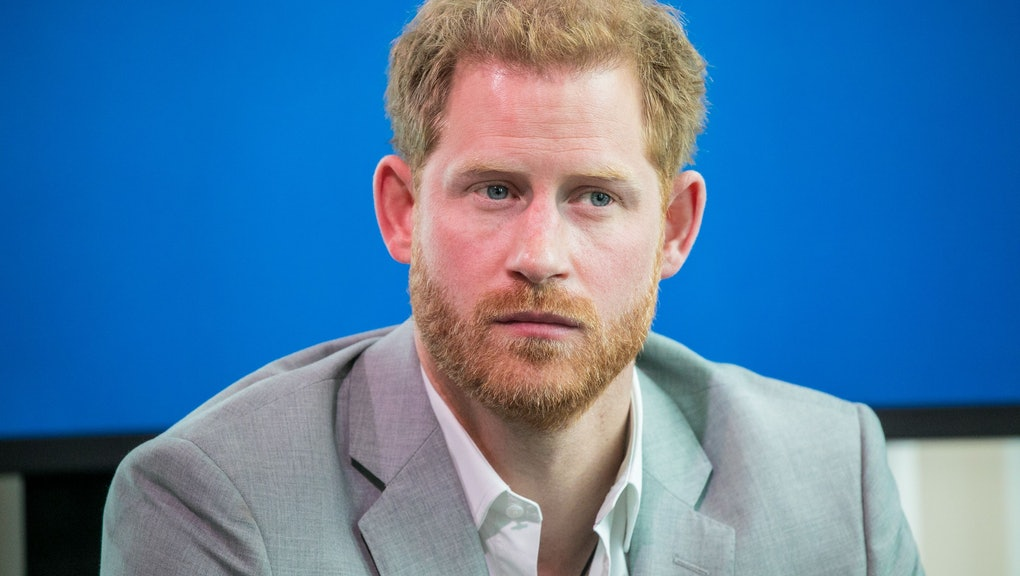 Prince Harry attends an event to announce a new partnership between Booking.com, SkyScanner, CTrip, TripAdvisor and Visa, at the ADAM Tower