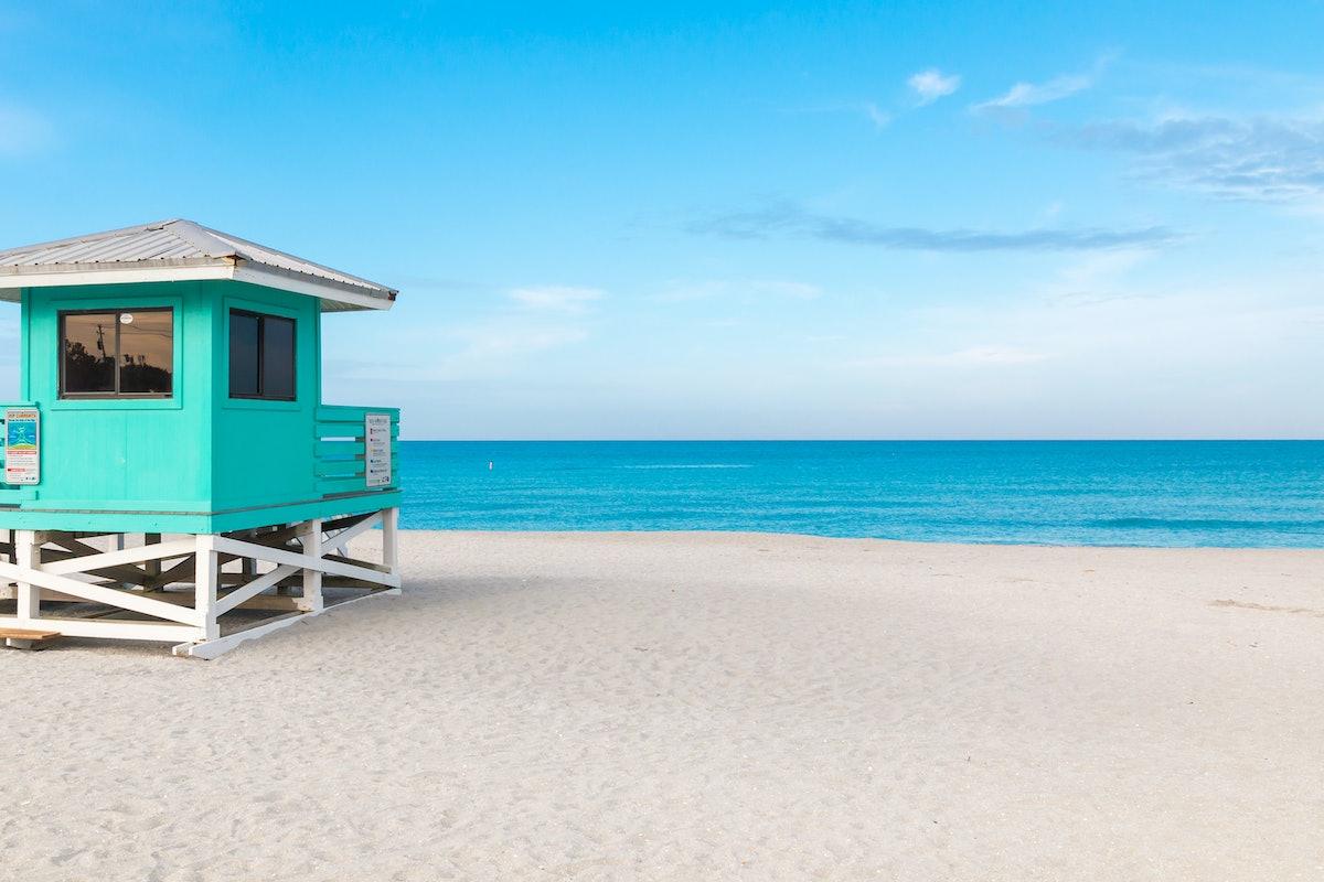 Lifeguard Tower in Venice Beach, Florida