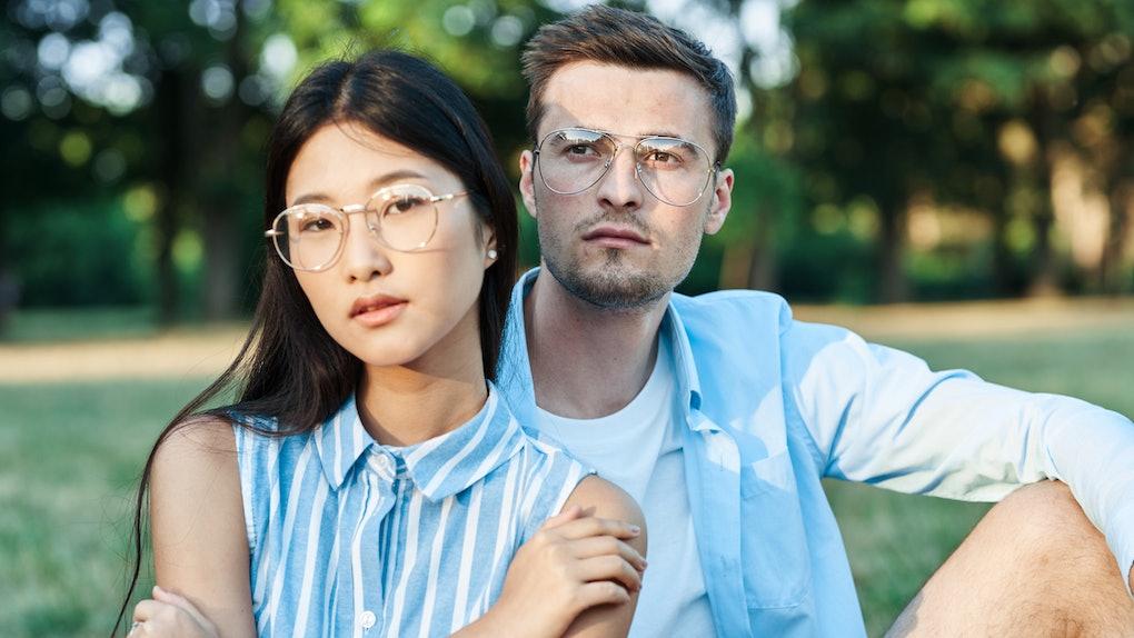 Man and woman Friendship nature vacation romance