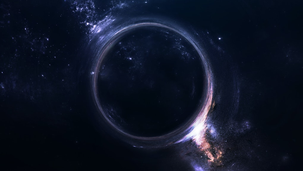 Black hole. Science fiction wallpaper. Elements of this image furnished by NASA