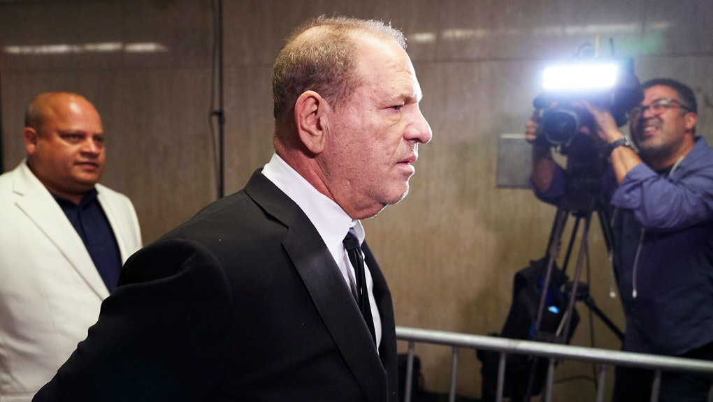 Disgraced movie producer Harvey Weinstein (C) arrives to New York State Supreme Court for a hearing ...
