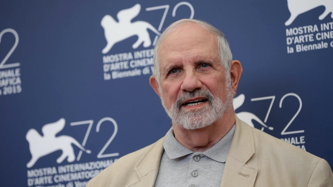 Brian De Palma Director Brian De Palma poses at the photo call for the film De Palma and for the Glory To The Filmmaker Award 2015 at the 72nd edition of the Venice Film Festival in Venice, Italy, . The 72nd edition of the festival runs until Sept. 12