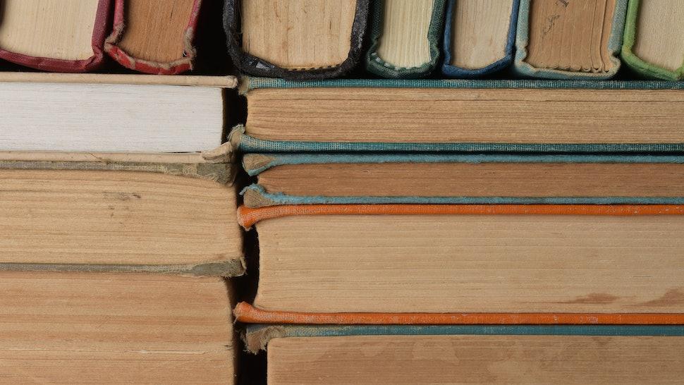 Books on stacks of books.