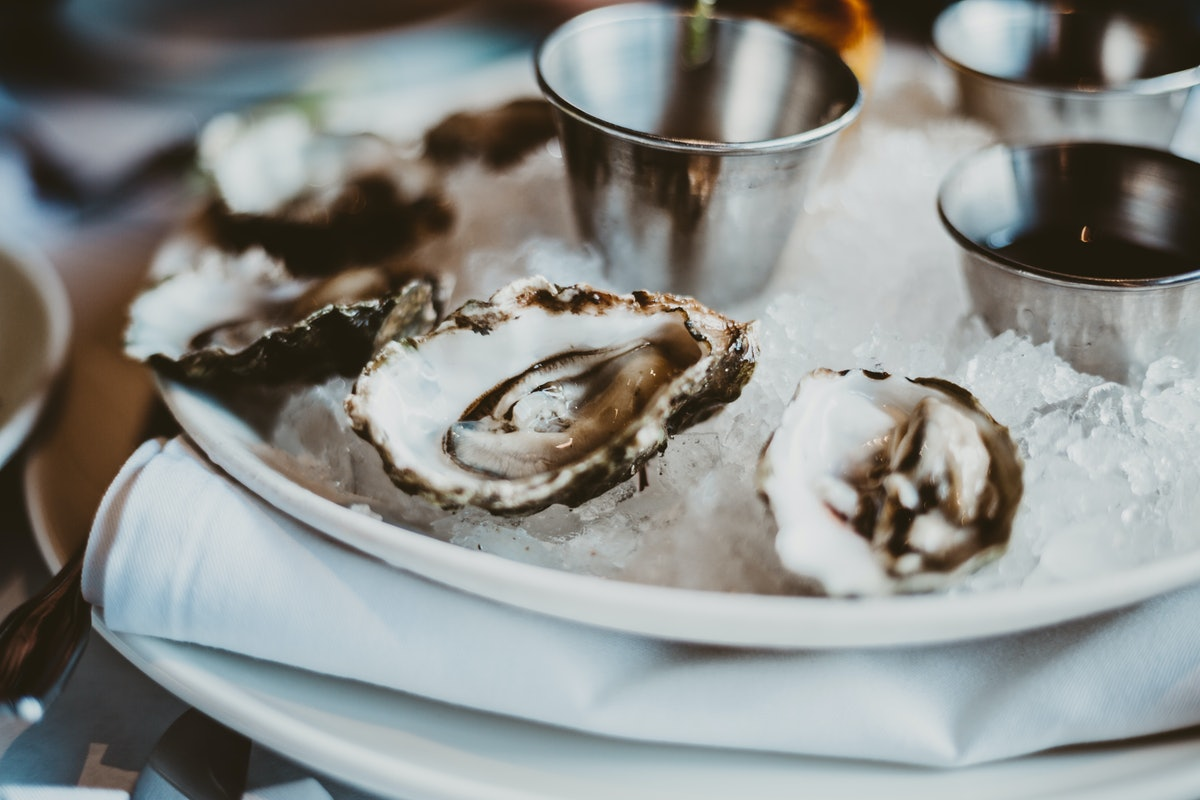 Oyster in a plate