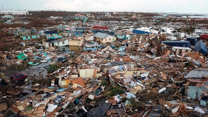 Extensive damage and destruction in the aftermath of Hurricane Dorian is seen in Abaco, Bahamas, . T...