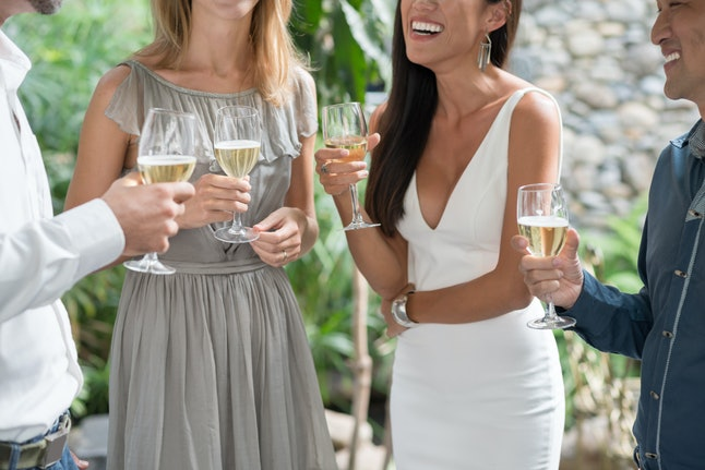 Cropped image of people having fun at outdoor party