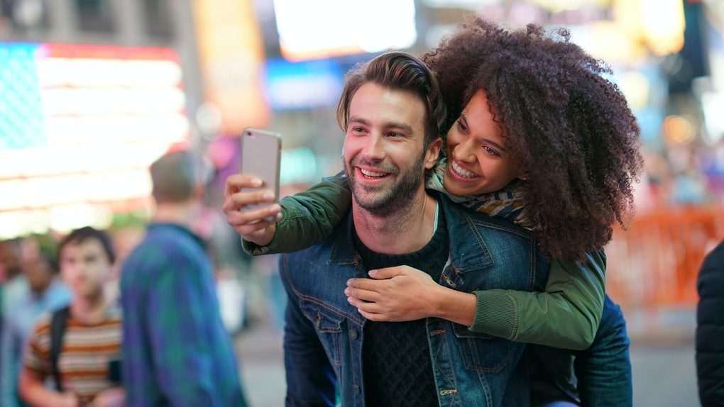 ''I'm wearing the smile you gave me' is an example of Instagram captions for date night