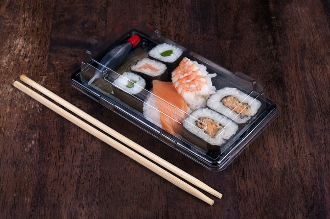 Sushi is a great easy and fresh lunch option.