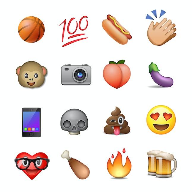 Set of cute smiley emoticons, emoji design