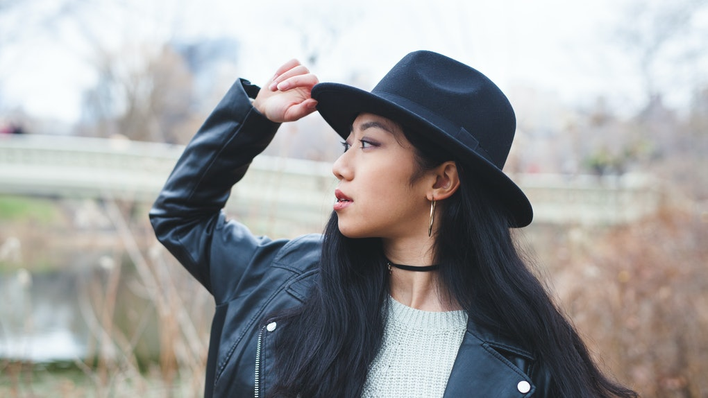 Edgy Asian model