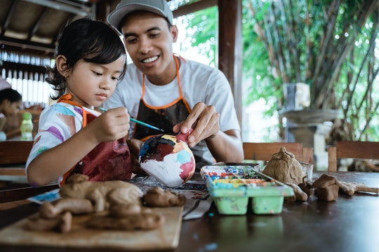 Painting pottery is a great way to gift your child an experience.