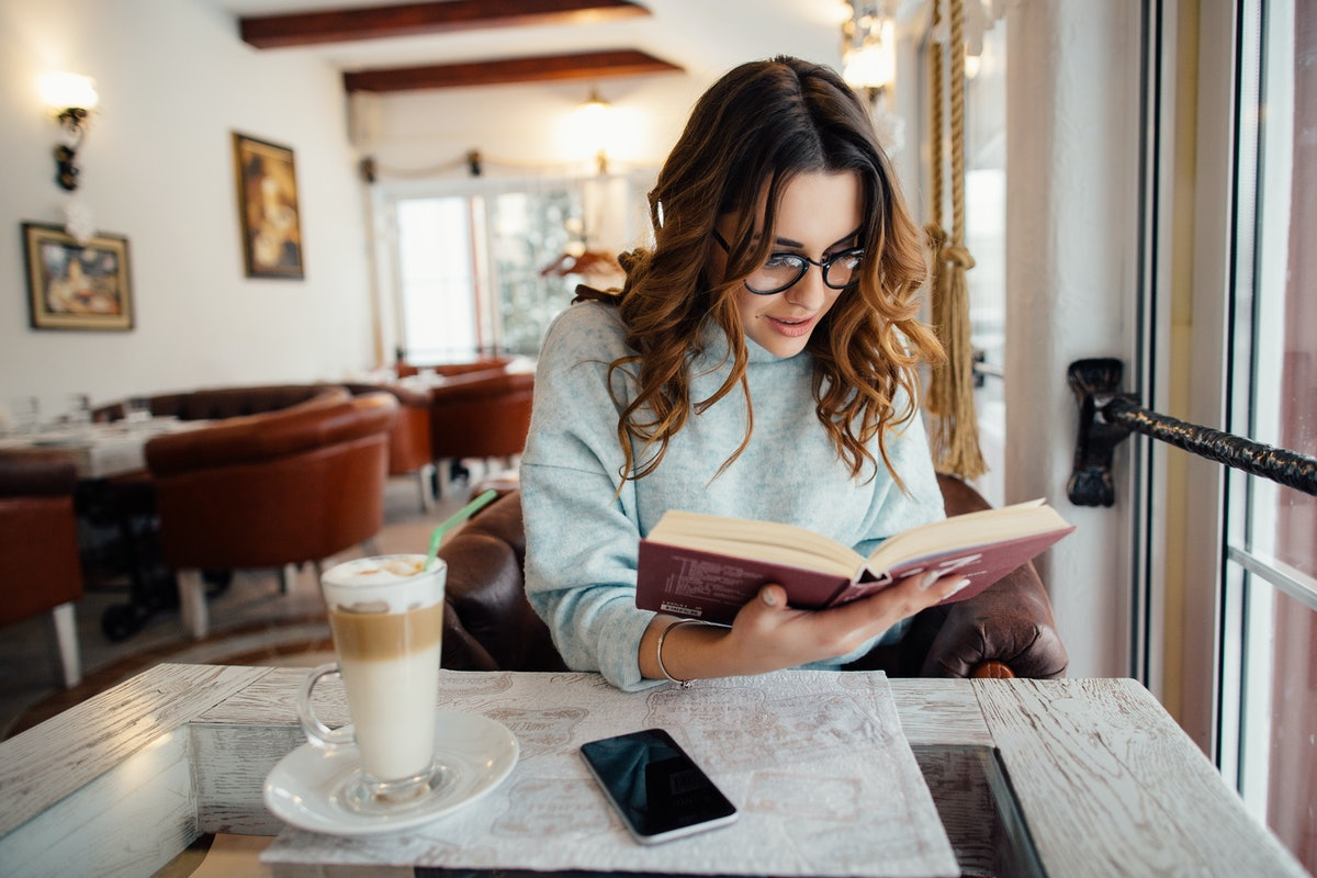If you're fighting with your partner, reading something to distract yourself is one form of self-care.