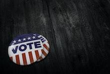 USA Vote button (pin badge)