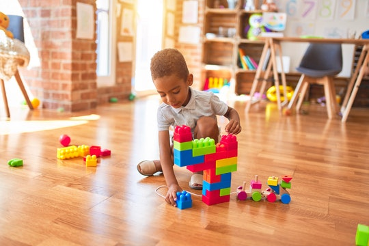 Blocks and other educational toys are part of the ToyLibrary Subscription Box