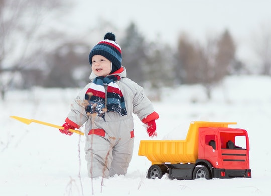Pulling out your kid's dump trucks is the perfect way to spend an afternoon in the snow.