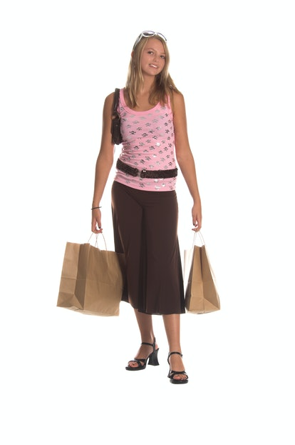 Wide-legged yoga pants were a 2000s fashion trend people loved.