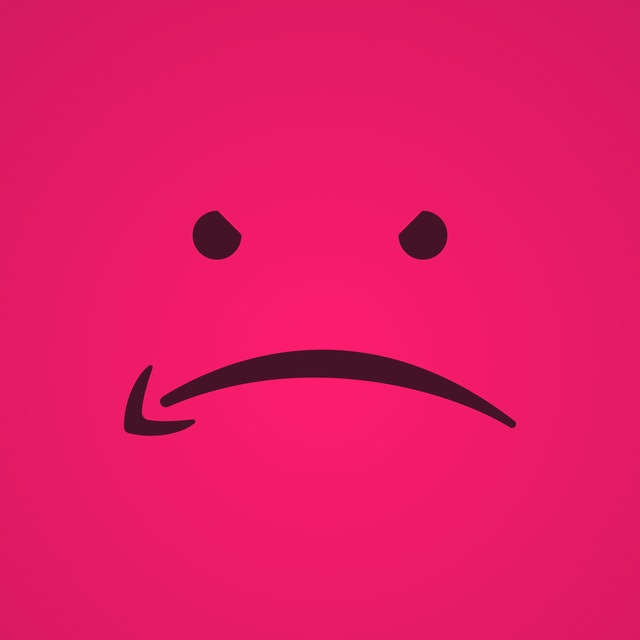 Sad smile by Amazon logo. E-commerce hater sign. Angry icon. Hater protest sign. Arrow logotype. Bad prime delivery. Vector illustration.