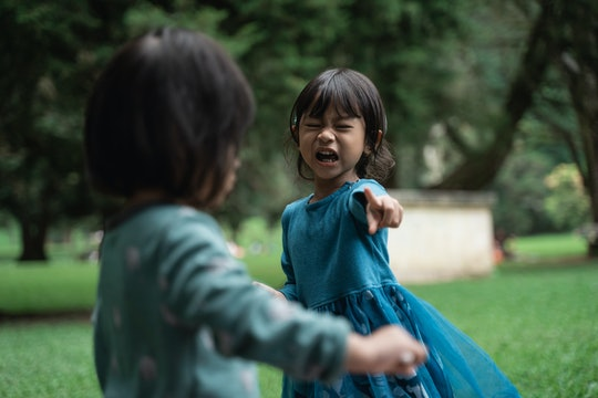 two little girls fighting
