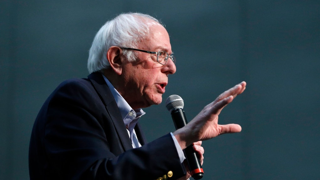 Democratic presidential candidate Sen. Bernie Sanders, I-Vt., speaks at a campaign rally, in Sioux City, Iowa