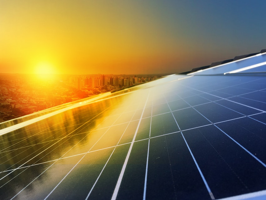 Solar Panel Photovoltaic installation on a Roof, alternative electricity source - Concept  Image of Sustainable Resources