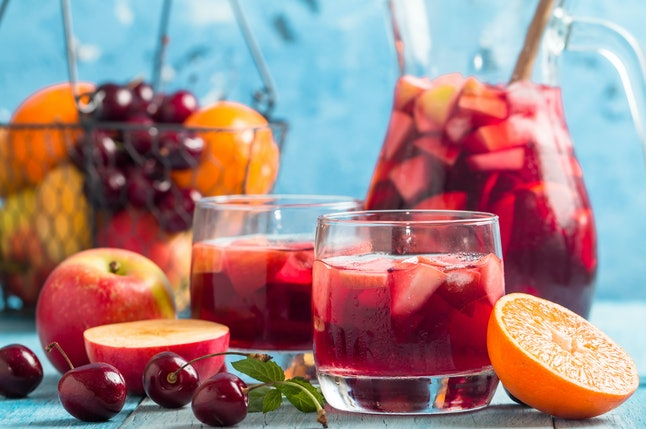 Sangria is an easy game day drink.