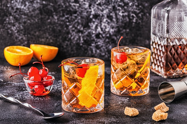 An od fashioned cocktail will keep you warm on Super Bowl Sunday.