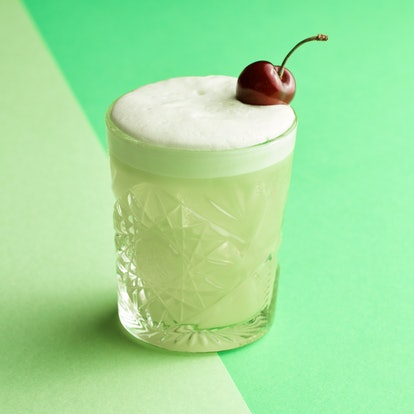 A gin sour cocktail is a leveled up game day drink.