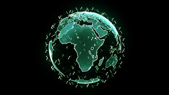 Global network network connection the world abstract 3D rendering satellites starlink. satellites cr...