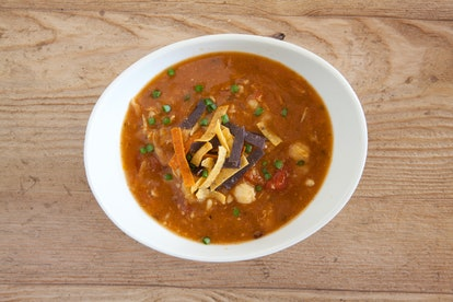Add ground turkey and cheese for a  Trader Joe's black bean soup hack.